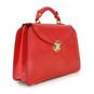 Veneziano Womens Leather Handbag - Side View