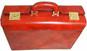 Lorenzo Magnifico II: Radica Range Collection – Triple Compartment Italian Calf Leather Briefcase in Nutella - Top View