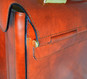 Lorenzo Magnifico II: Radica Range Collection – Triple Compartment Italian Calf Leather Briefcase in Nutella- Side View