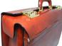 Lorenzo Magnifico II: Radica Range Collection – Triple Compartment Italian Calf Leather Briefcase in Nutella -  Inside View