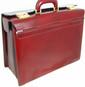 Lorenzo Magnifico II: Radica Range Collection – Triple Compartment Italian Calf Leather Briefcase in - Nutella