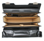 Lorenzo Magnifico II: Bruce Range Collection – Triple Compartment Italian Calf Leather Briefcase in - Black Overview
