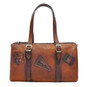 Berna : Bruce Range Collection – Italian Calf Leather Buckle Duffel bag in Brown