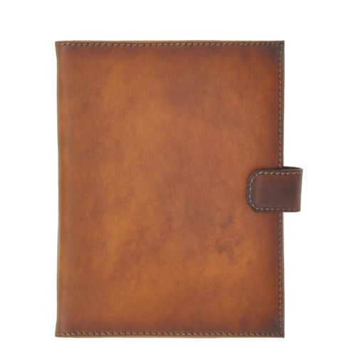 Andrea Del Sarto: Bruce Range Collection – Italian Calf Leather Snap Closure Padfolio in Brown