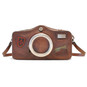 Photocamera: Bruce Range Collection – Italian Calf Leather Shoulder Bag in Brown