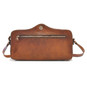 Photocamera: Bruce Range Collection – Italian Calf Leather Shoulder Bag Back View