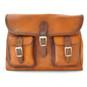Maremma: Bruce Range Collection – Italian Calf Leather Cross-body Messenger Bag in - Cognac