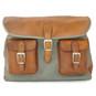 Maremma: Bruce Range Collection – Italian Calf Leather Cross-body Messenger Bag in - New Port Green