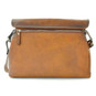 Maremma: Bruce Range Collection – Italian Calf Leather Cross-body Messenger Bag in Brown - Back View 2