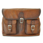 Maremma: Bruce Range Collection – Italian Calf Leather Cross-body Messenger Bag in Brown (Front View)