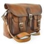 Maremma: Bruce Range Collection – Italian Calf Leather Cross-body Messenger Bag in Brown