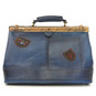 San Casciano : Bruce Range Collection – Italian Calf Leather Carry-all Travel Bag in  Blue
