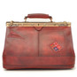 San Casciano : Bruce Range Collection – Italian Calf Leather Carry-all Travel Bag in Cherry