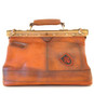 San Casciano : Bruce Range Collection – Italian Calf Leather Carry-all Travel Bag in Cognac