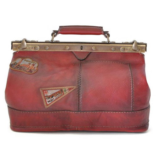 San Casciano : Bruce Range Collection – Italian Calf Leather Carry-all Travel Bag in Chianti