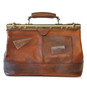 San Casciano : Bruce Range Collection – Italian Calf Leather Carry-all Travel Bag in Brown