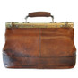 San Casciano : Bruce Range Collection – Italian Calf Leather Carry-all Travel Bag in Brown Back View