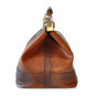 San Casciano : Bruce Range Collection – Italian Calf Leather Carry-all Travel Bag in Brown Side View