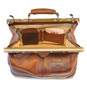 San Casciano : Bruce Range Collection – Italian Calf Leather Carry-all Travel Bag in Brown Compartment View