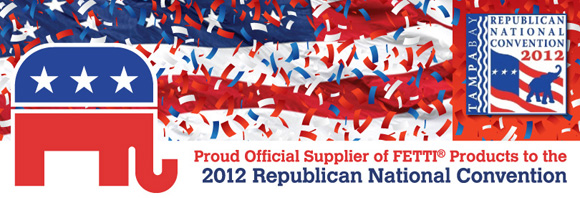 Confetti that Flutters, Flies and Floats. Perfect for Political Rallys!