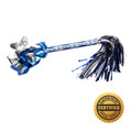"9"" Mazel Tov Swisher Pom-Pom Filled w/Metallic Streamers - Hand Flick Launcher"