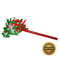 "14"" Holiday Flutter FETTI® Confetti Stick w/Green/Red/White Tissue - Hand Flick Launcher"