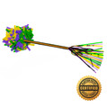 "14"" Mardi Gras Swisher Pom-Pom Filled w/Purple, Green and Yellow Flutter FETTI® Confetti"