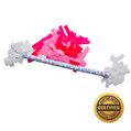 "14"" Baby Girl Gender Reveal Flutter FETTI® Confetti Sticks - Hand Flick Launcher"