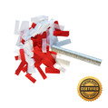 "6"" Flutter FETTI® Confetti Stick w/Tissue (Custom Colors) - Hand Flick Launcher"
