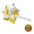 "6"" Wedding Confetti w/ White Tissue & Gold and Silver Metallic - Hand Flick Launcher"