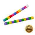"""9"""" Speed Load Tube of Metallic Streamers Breakaways (Custom Colors)"""