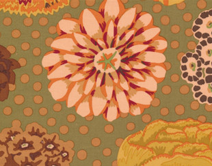 Big Blooms, GP91 Kaffe Fassett Classic Colour:Brown