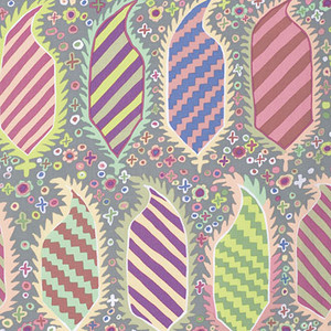 Striped Heraldic Kaffe Fassett Colour: Grey