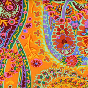 Kaffe Fassett Paisley Jungle colour: Tangerine