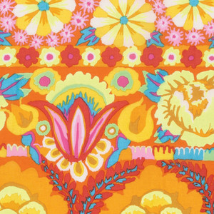 Embroidered Flower Border Artisan Collection by Kaffe Fassett Colour: Yellow