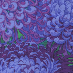 Japanese Chrysanthemum - Purple, Philip Jacobs, PJ41, per 1/2 yard
