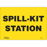 """Spill Kit Station"" Sign - Vinyl 10"" x 7"""