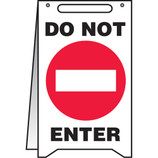 "Fold-Up ""Do Not Enter"" Sign"