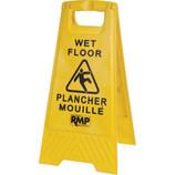 Bilingual Safety Wet Floor Sign