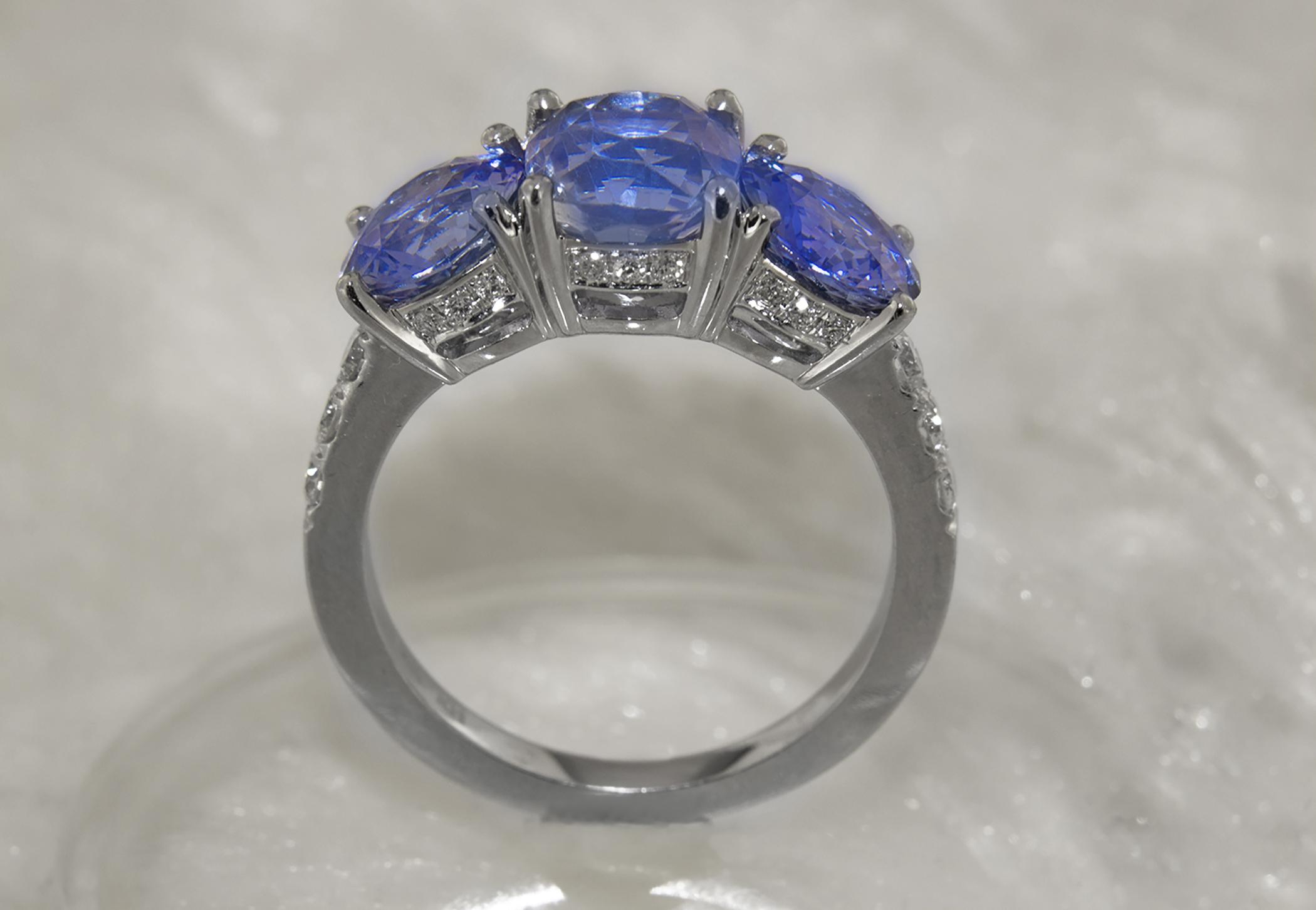 Sapphire Three Stone Ring