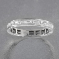 Channel Set Baguette Diamond Wedding Band in Platinum