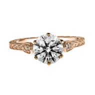 Vintage Style Rose Gold Engagement Ring