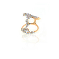 Casato Free Form Rose Gold Ring with White Diamonds