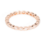 Rose Gold Marquise Round Wedding Band