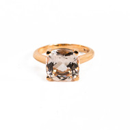 Cushion Shape Morganite Ring in Rose Gold at Soho Gem Fine Jewelry
