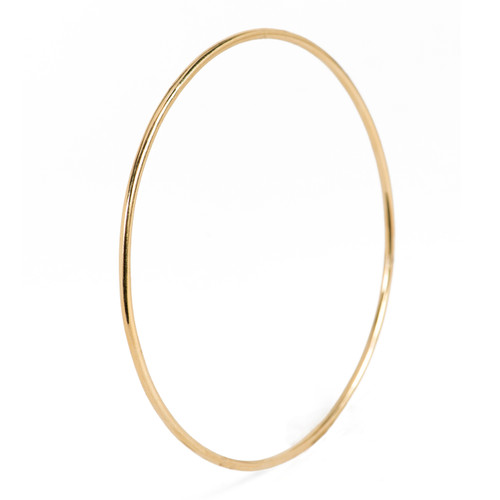 Simple Yellow Polished Gold Bangle
