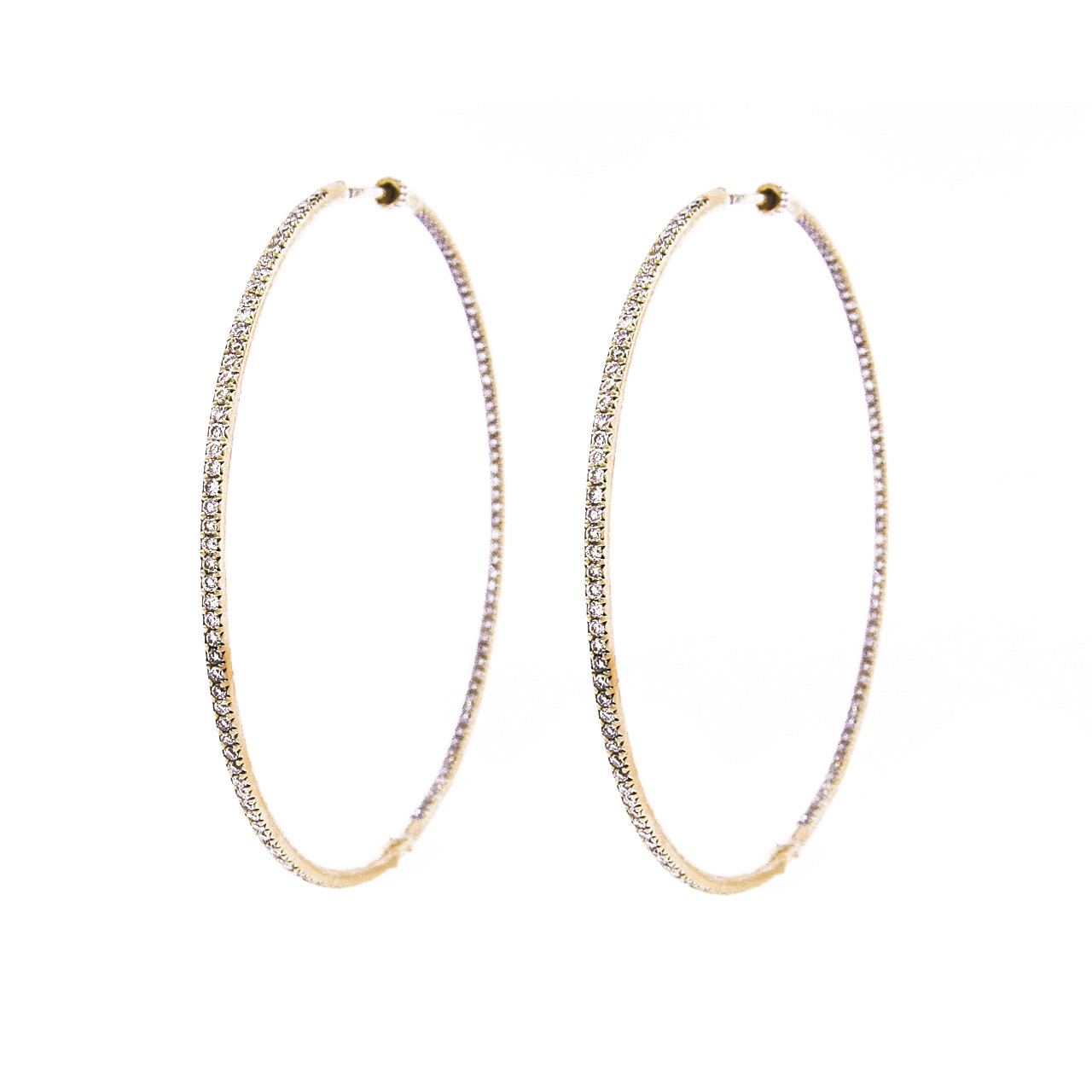 970badf0386620 ... Extra Large Yellow Gold Diamond Hoop Earrings. Soho Gem Online Jewelry  Store and Fine Jewelry Boutique, New York City