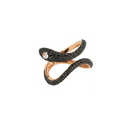 Black Diamond Snake Ring