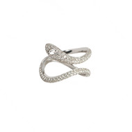 Snake Ring with Pave Diamonds