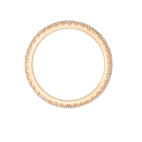 Rose Gold Micro Pave Wedding Band | side view